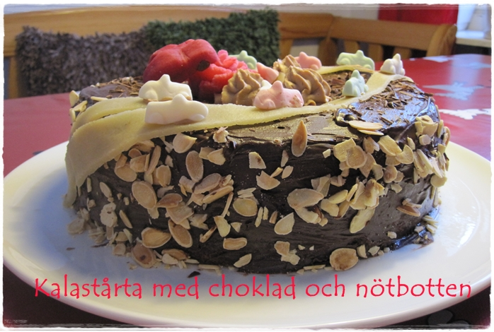 recept enkel tårta med nötbotten